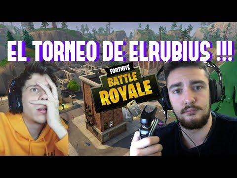 TORNEO FORTNITE DE *elrubiusomg* !!! ME RAPO LA CABEZA Y LA BARBA EN DIRECTO !!!