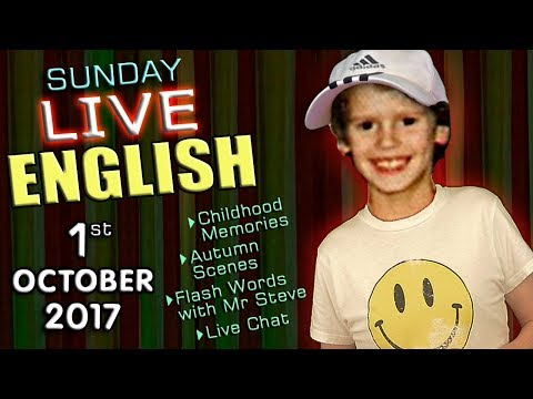 LIVE English Lesson - 1st OCT 2017 - Learning English  - grammar - childhood - abbreviations