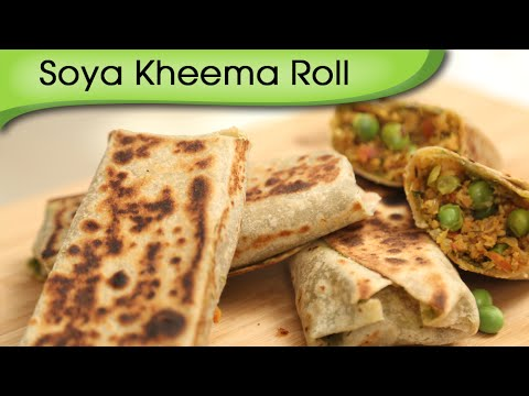 Soya Kheema Roll – Healthy Veg Wrap – Easy To Make Kids Lunch Box / Tiffin Recipe By Ruchi Bharani