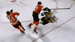 Giroux absolutely runs over Hagelin, Kessel responds by Sportsnet Canada