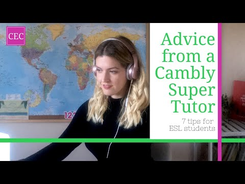 How to Learn English on Cambly: advice from a Cambly SuperTutor!