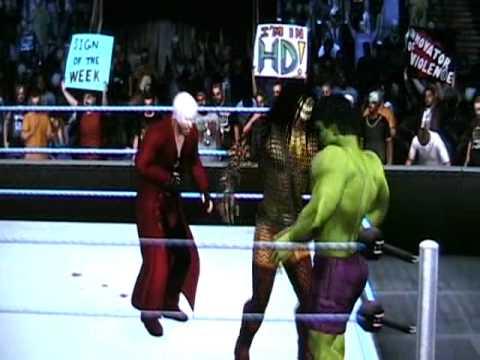 Kratos vs Dante vs Predator vs Spiderman vs Superman vs Hulk (DfantasyCaws)