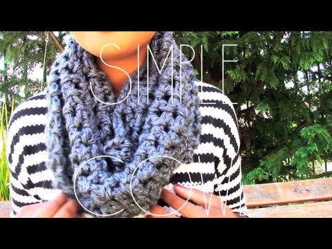 How To Crochet A Round Scarf Step By StepTutorial - YouTube