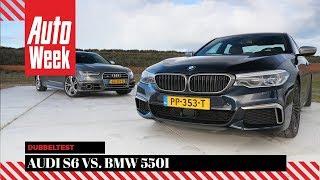Audi S6 Avant vs. BMW M550i - Dubbeltest - English subtitles