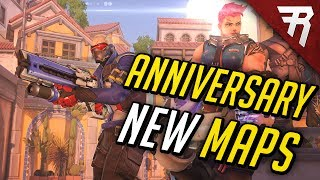 Overwatch Anniversary event introduces three new arena maps for 3v3 elimination and 1v1 duel: Black Forest (Eichenwalde), Necropolis (Temple of Anubis), and ...
