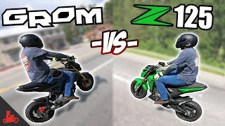 4. Honda Grom vs Kawasaki Z125 - IN RIDE Comparison!