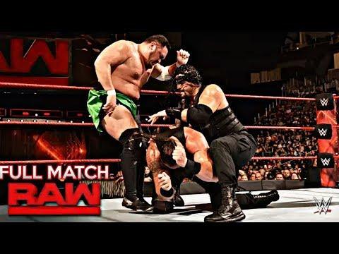 WWE RAW 31 JULY 2017 | ROMAN REIGNS VS BRAUN STROWMAN VS SAMOA JOE - TRIPLE THREAT MATCH