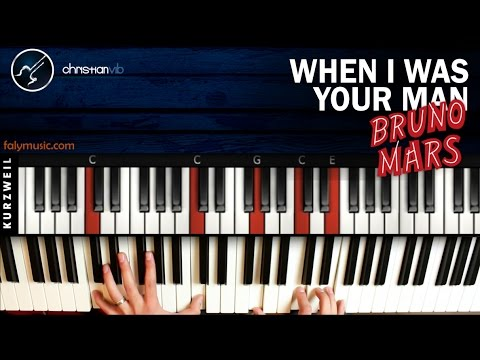 Como tocar When I Was Your Man en Piano BRUNO MARS | Tutorial Completo (видео)