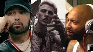 Video Eminem Responds To Machine Gun Kelly & Joe Budden, Reveals He Has More Unreleased Diss Tracks MP3, 3GP, MP4, WEBM, AVI, FLV Desember 2018