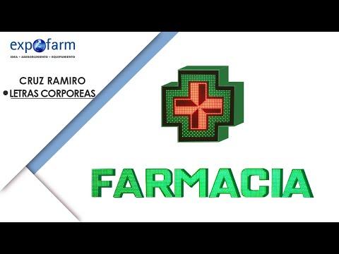 Cruz de farmacia Ramiro y Letras Corpóreas