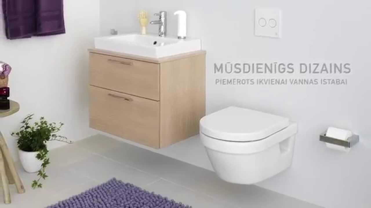 Tualetes pods Estetic 8300 — apslēpts S/P tipa sifons, Hygienic Flush
