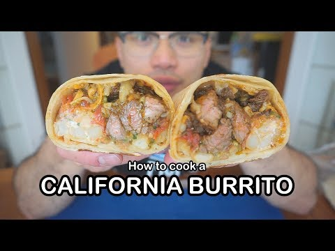 How to cook a CALIFORNIA BURRITO