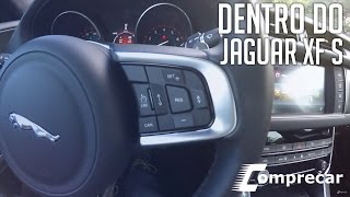 Dentro do Jaguar XF S - V6 3.0 - 380cv