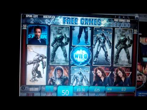 Video of high stakes UK online casino win IRON MAN 2 — £25 stake (real money play)