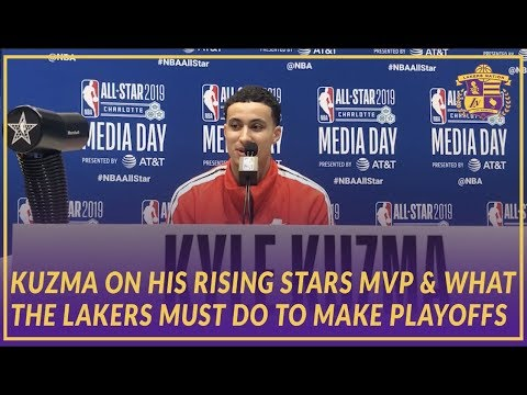 Video: 2019 NBA All-Star: Kyle Kuzma on His Rising Stars MVP Game and What Lakers Must do to Make Playoffs