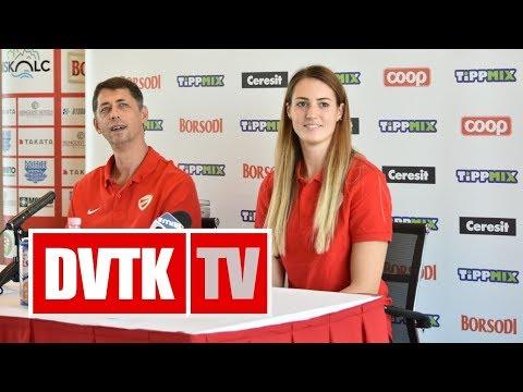Sajtótájékoztató az Aluinvent DVTK - PEAC-Pécs mérkőzés előtt