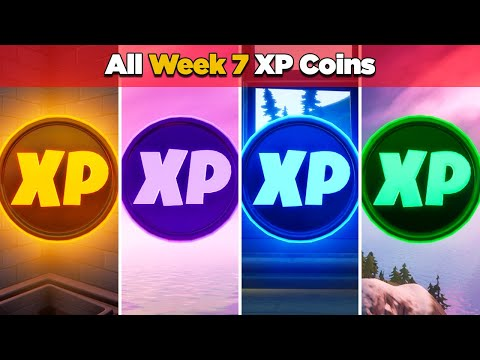 All XP Coins Location Guide WEEK 7 (Fortnite Chapter 2 Season 4)