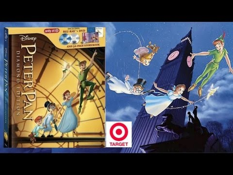 Peter Pan Target Exclusive Digi/StoryBook Blu-ray/DVD Unboxing - (1953) - Diamond Edition