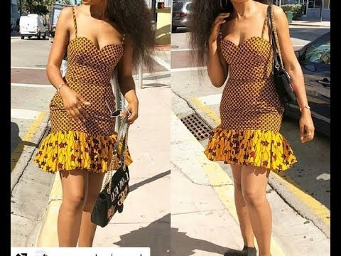 DIY HOW TO MAKE ANKARA TUBE BREASTCUT DRESS PATTERN 1