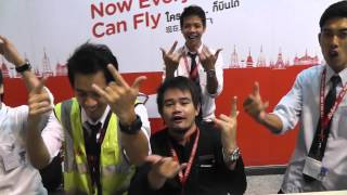 Air Asia At Don Mueang Bangkok Airport 2013  BungaBungaTV