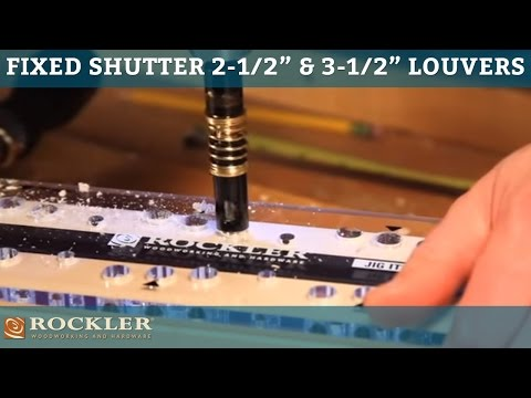 Fixed Shutter Instructions for 2-1/2'' and 3-1/2''