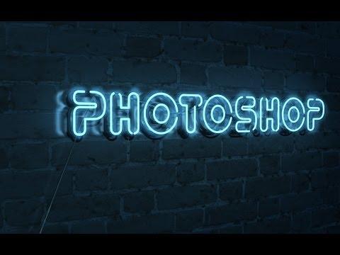 Как сделать неоновые надписи в фотошопе
