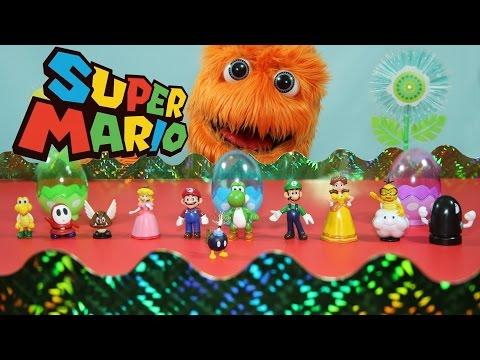 Super Mario Bros Toys: Super Mario Action Figure Collection // Fuzzy Puppet