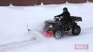 9. BOSS ATV Straight Blade Plow in Action