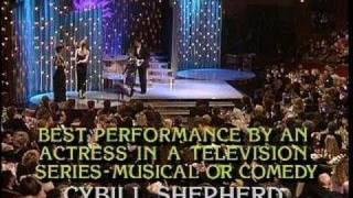Estelle Getty&Cybill Shepherd Win Best Performance By Actress TV Series - Golden Globes 1986