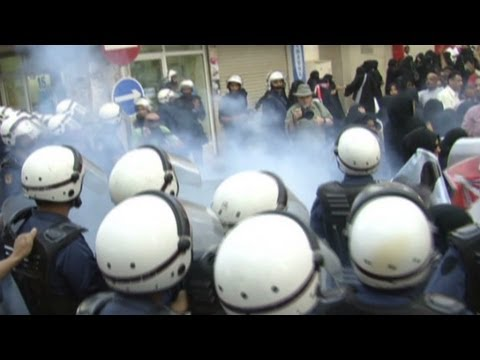On patrol with Bahrain-s riot police