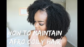 How To Maintain Afro Coily Hair  Queen Weave BeautyInstallation of my Afro Kinky Coily U-part wig:https://youtu.be/eUl97w7pJdEI got a lot of questions about to maintain this type of coily hair, I decided to make a dedicated video on some easy tips!Curly hair is HIGH MAINTENANCE! Make sure you follow these steps to keep your units lasting long! :-) Hope this helps!I got 2 bundles of the coily curly texture: 20in + 22inI installed the 20in in the back, and then the 22in on topIf you are interested in having one of these units, made by me, just send me an email! :  Ifyyvonnebiz@gmail.comI know I always say I don't make units for people, but I'll make an exception this time because this is a must! Especially for my 4c girls!Link to Hair:https://tinyurl.com/yaxf5c6fSupplies::::Cap I like to use: http://amzn.to/2nCWVKSWig Combs-http://amzn.to/2mWbEQhDenman Brushhttp://amzn.to/2sbvwhoRecommended Conditioners:::Luseta- http://amzn.to/2tOHvWxOne'n'Only- http://amzn.to/2tKganNAussie- http://amzn.to/2tH9KpFGarnier- http://amzn.to/2sE78cAIt's A 10- http://amzn.to/2sKkqj2Queen Weave Info:::Website: https://www.queen-weave.com/Coily Curly bundles 20/22 link: https://www.queen-weave.com/brazilianvirginhair/3bundle/3-bundle-coily-curly/3-bundle-coily-curly-brazilian-virgin-hair.htmlIG: queenweavebeauty910088FB: https://www.facebook.com/queenweavebeauty910088/Email: export@queen-weave.comMy Bloghttp://ifyyvonne.comMy Snapchat@IfyYvonneMy Instagram@naijagoddessMy Twitter@TheNaijaGoddessifyyvonne, natural hair, crochet styles, nigerian, naija, naijagoddess, woc,  4chair, blending 4c hair, upart wig, queen weave beauty, coily curly, kinky curly, afro kinky curly, upart wig with leave out, lace wig with leave out, how to make a wig with leave out, protective styles for 4c hair, 4c natural hair styles, natural hair, crochet styles, nigerian, naija, naijagoddess, woc,