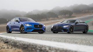 Jaguar XE SV Project 8 vs. Mercedes-AMG GT 63 4MATIC+—2019 BDC Hot Lap Matchup by Motor Trend