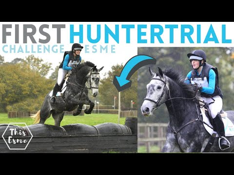 First Huntertrial + Show with my Young Horse! Challenge Esme AD | This Esme