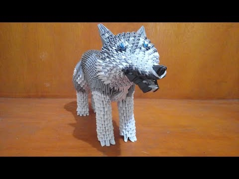 How To Make 3d Origami Wolf Dog Part 1 - Easy