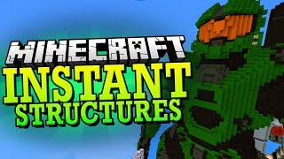Minecraft 1.8 Mod   INSTANT STRUCTURES MOD (170+ Structures to Pick From) - Minecraft Mod Showcase