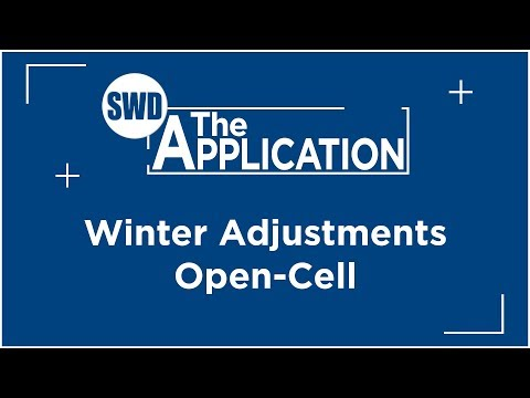 The Application: Winter Adjustments Open-Cell w/Jeremiah Schoneberg