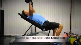 Exercise Index: Incline Benchpress with Dumbbells