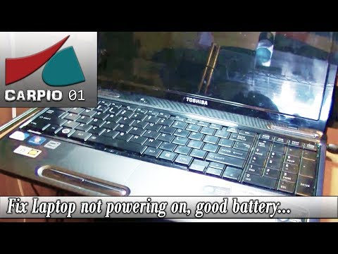 Laptop Fix no power toshiba L655, good battery, power adapter and power jack.
