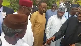 President Buhari    Arrives Aso Villa