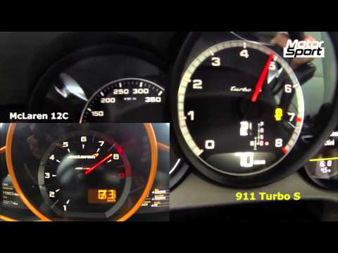 0-200 km/h : McLaren 12C VS Porsche 911 Turbo S (Motorsport)