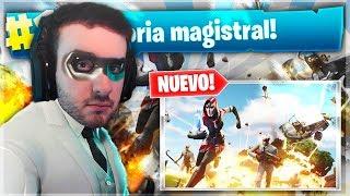 MI PRIMERA VICTORIA MAGISTRAL EN EL *NUEVO MODO* *LA HUIDA* DE FORTNITE !!!