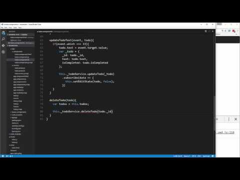 Learn MEAN Stack By Building A ToDo App - Deleting Todos