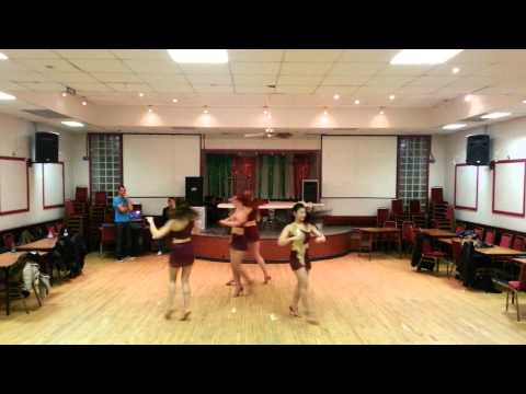Caramelo Latin Dance Ladies Styling Student Performance Team Show 25 03 2014