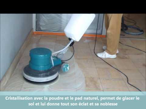 renovation,ponçage de marbre,cristallisation avec le kit 3 disques MPMS