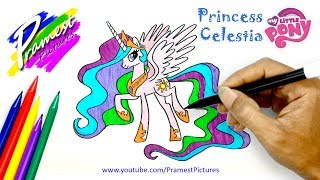Video How To Draw Princess Celestia | My Little Pony Coloring Pages For Kids MP3, 3GP, MP4, WEBM, AVI, FLV Januari 2019