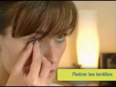 comment poser et retirer les lentilles de contact