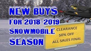 7. New Buys for 2018-2019 Snowmobile Season