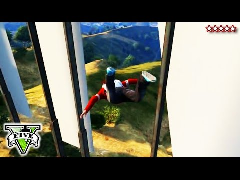 GTA 5 EXTREME SKYDIVING Challenges #2 | GTA V Sky-Diving Stunts & Epic Fails