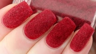 Velvet Nails with Flocking Powder Tutorial - YouTube