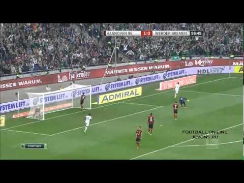 Match goals Hannover 96 1-2 Werder Bremen (видео)